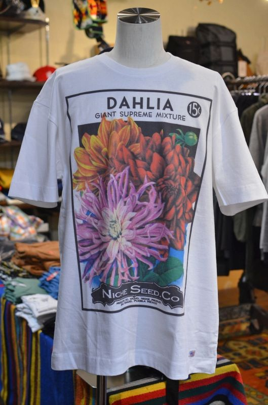 """画像1: 【Niche./ニッチ 】 Flower Seeds Tee フラワーTee """" DAHLIA"""" (1)"""
