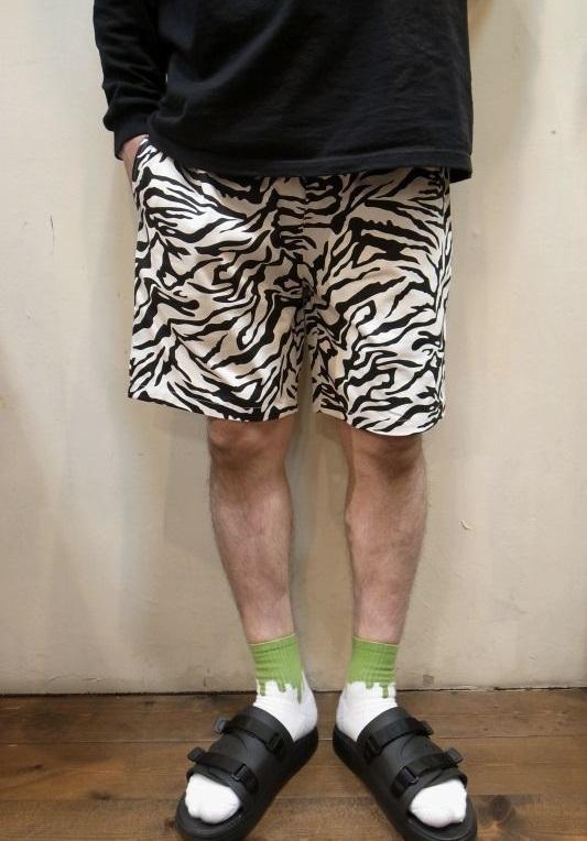 画像1: 【Cookman】 Chef Short Pants シェフショートパンツ 「ZEBRA」 (1)