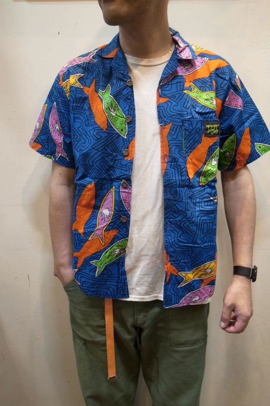 画像1: USED アロハシャツ (1)