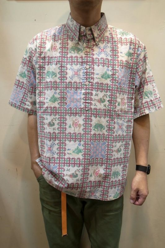 画像1: USED レインスプーナー アロハシャツ (1)