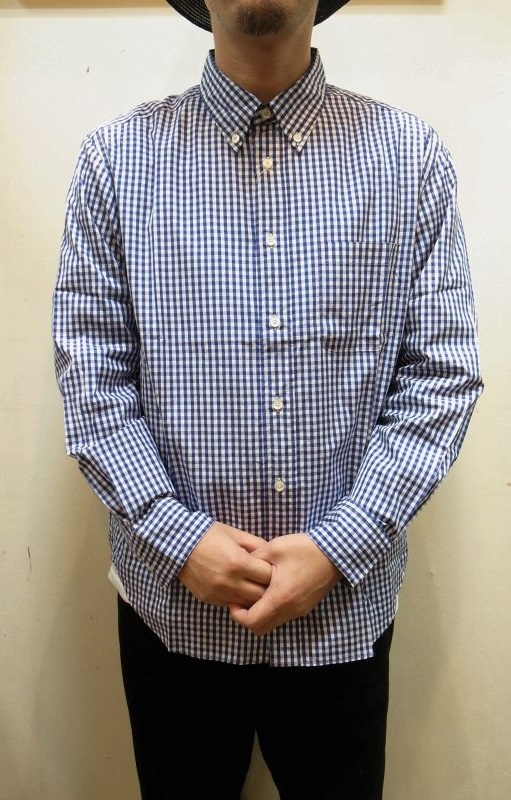 "画像1: 【Manual Alphabet/マニュアルアルファベット】 ""Bulging Fit"" GINGHAM B.D SHIRT (1)"