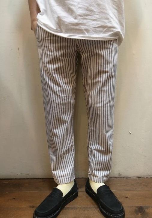 画像1: 【Yarmo/ヤーモ】 STRIPE MILITARY PANTS ストライプ ミリタリーパンツ (1)