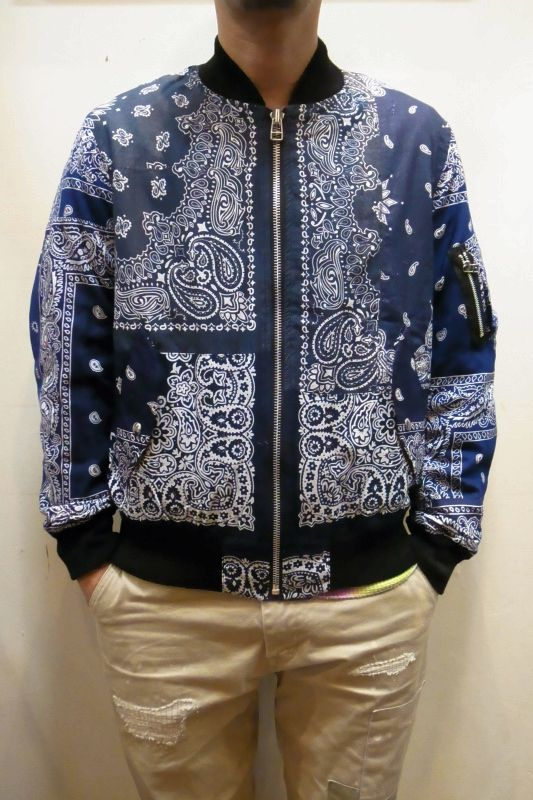 画像1: 【OLD PARK/オールドパーク】 BANDANA FLIGHT JACKET (1)