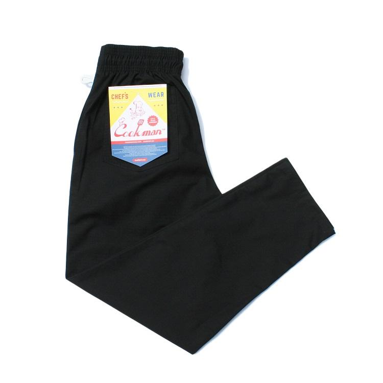 画像1: 【Cookman】 Chef Pants Ripstop 「BLACK」 (1)
