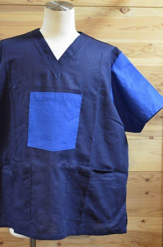 画像1: 【TAMANIWA/タマニワ】 MIL HOS コットンリネン半袖Tシャツ (1)