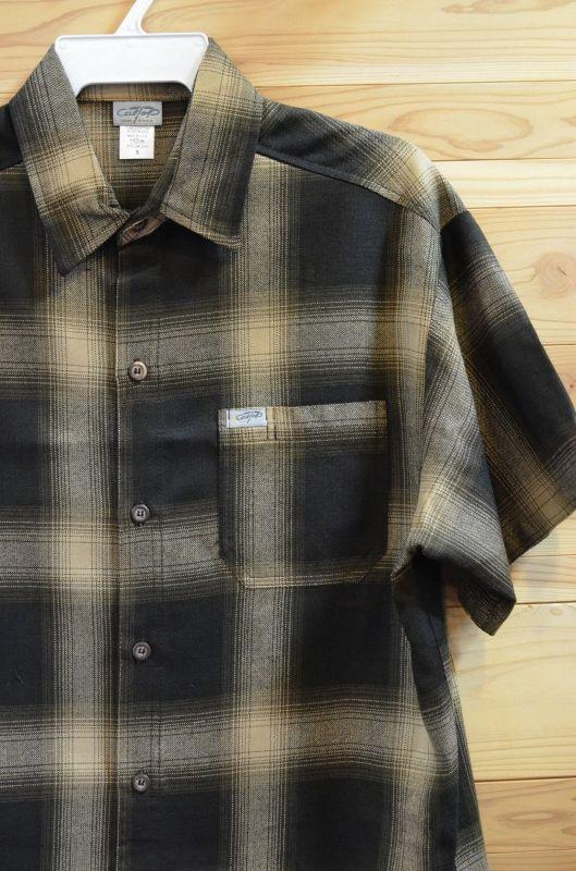 画像1: 【CAL TOP/キャルトップ】  オンブレチェック 半袖シャツ (1)