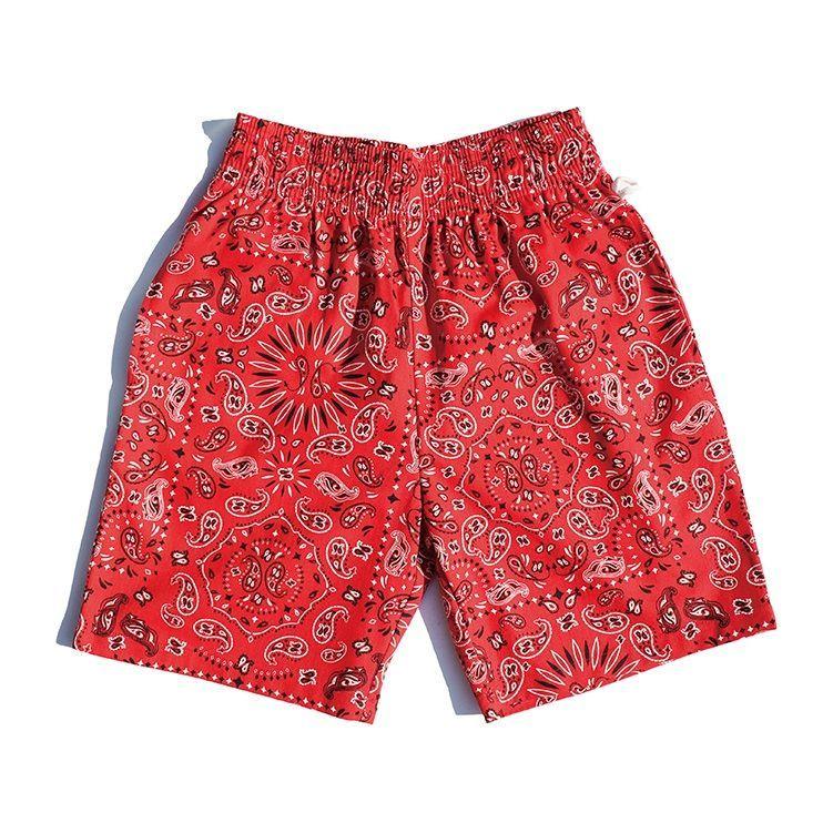画像1: 【Cookman】 Chef Short Pants PAISLEY RED (1)