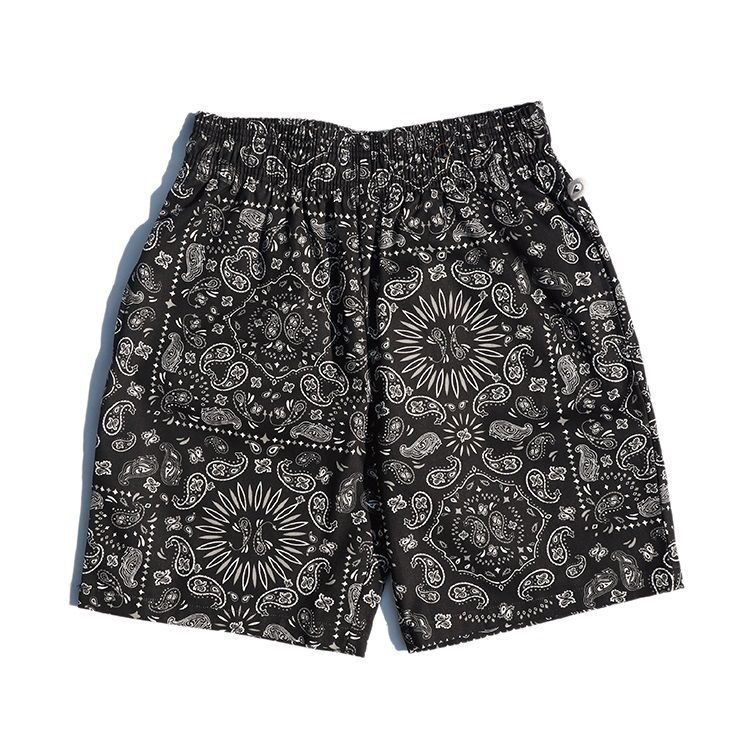 画像1: 【Cookman】 Chef Short Pants PAISLEY BLACK (1)
