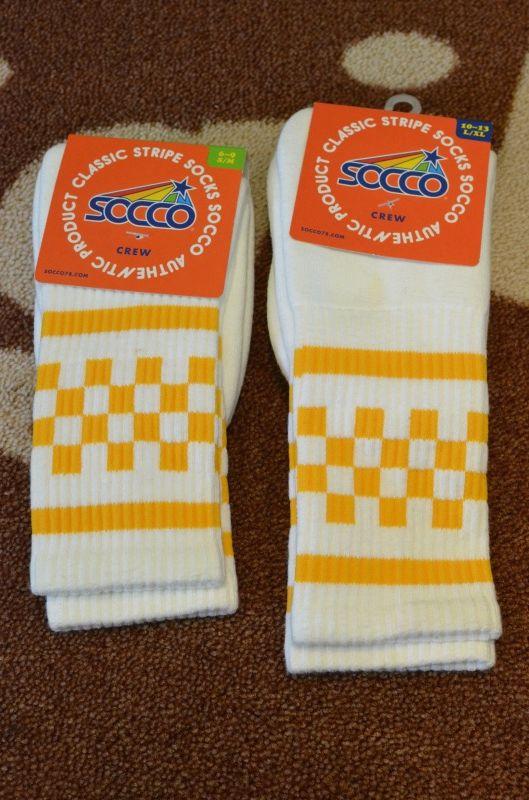 画像1: 【SOCCO/ソッコ】 Checkered Crew Socks (1)